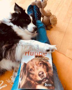 Emmy mit Buch Hunde erforscht - für die Praxis erklärt