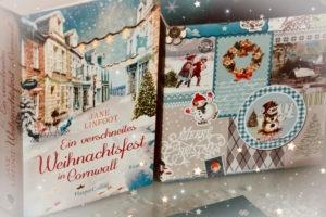 Weihnachtliche Deko zum Buch ein verschneites Weihnachtsfest in Cornwall