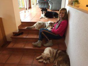 Katja mit Hunden